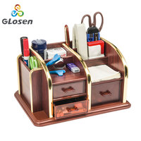 Glosen Desk Stand Skin Care Makeups Organizer Pen Holder Desktop Accessories Storage Grids Container Gifts Box C2025 pen holders