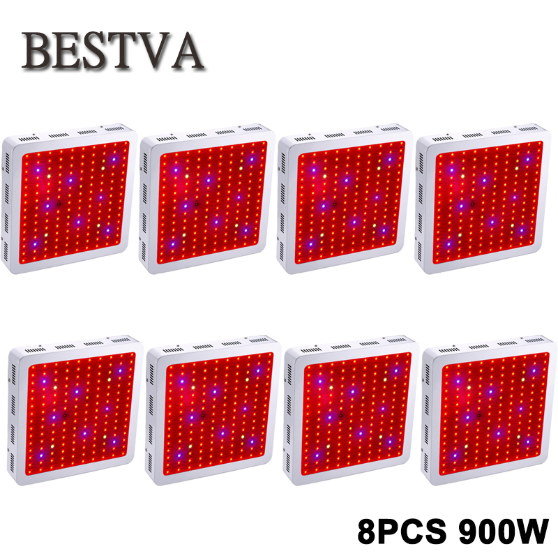 8PCS USA/DE/AU/UK Stock 3 Year Warranty Bestva 900W Full Spectrum ,IR,UV  LED grow light for Indoor Plants and Flower Phrase 1 year warranty in stock 100