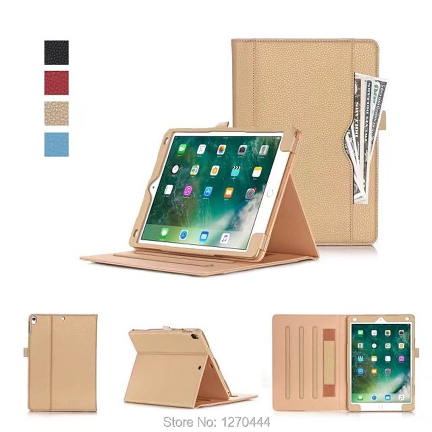 Case For iPad Pro 10.5, Hand Strap ID card Slots Faux Leather Smart Auto sleep/wake stand Cover for iPad Pro 10.5'' A1701 A1709 hot ultra thin leather smart stand case for ipad pro 10 5 auto transformers cover for new ipad pro 10 5 a1701 a1709 film stylus