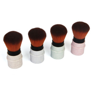 Image 3 - Mini geri çekilebilir vakıf makyaj pudra allık güzellik fırçalar seyahat kozmetik