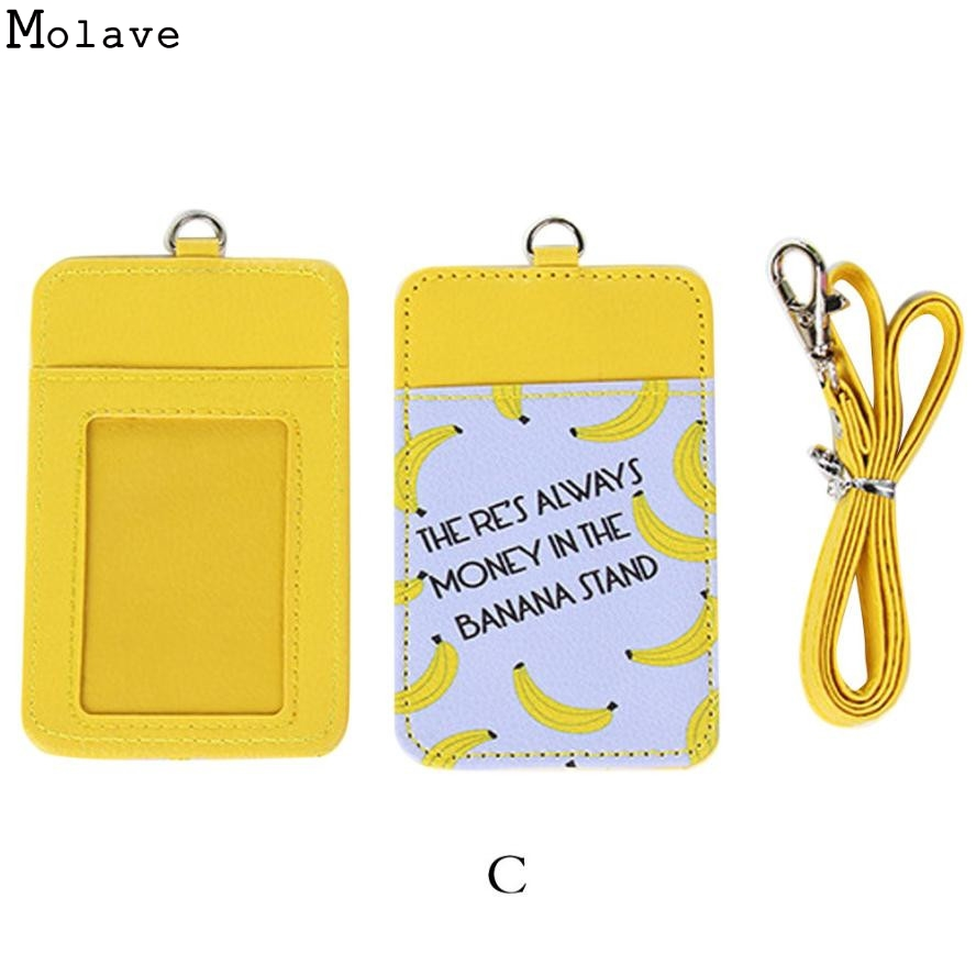 PU Leather Card Case Holder Bank Credit Card Holders Card Bus ID Holders Identity Badge with Cartoon Retractable Reel D36JL24 fhadst no zipper cheap bank credit card holders bus id holders identity red yellow blue badge with retractable reel wholesale