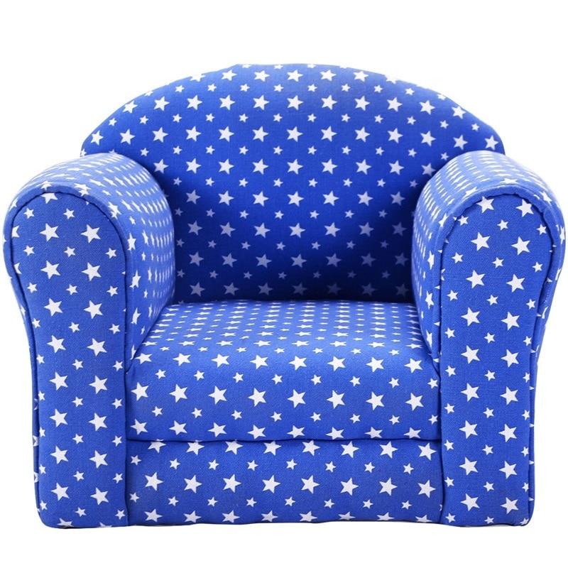 Haute qualité en forme de coeur imprimé accoudoir enfants canapé 2 couleurs confortable matériel lecture siège enfant chaises HW52370