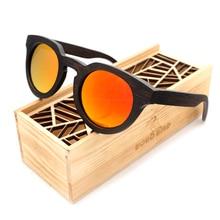 Бобо птица новый роскошный черного дерева, Круглый Солнцезащитные очки для женщин поляризационные Защита от солнца Очки для Для мужчин и Для женщин с зеркальным объективом 2017 стимпанк BG012eC