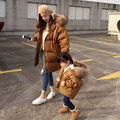 Соответствовать 80 КГ 90% Белая Утка Вниз Зимнее Пальто женщин Длинные Parka Куртки Пальто Шинель Куртка Плюс Размер Женщин Толщиной Вниз парки