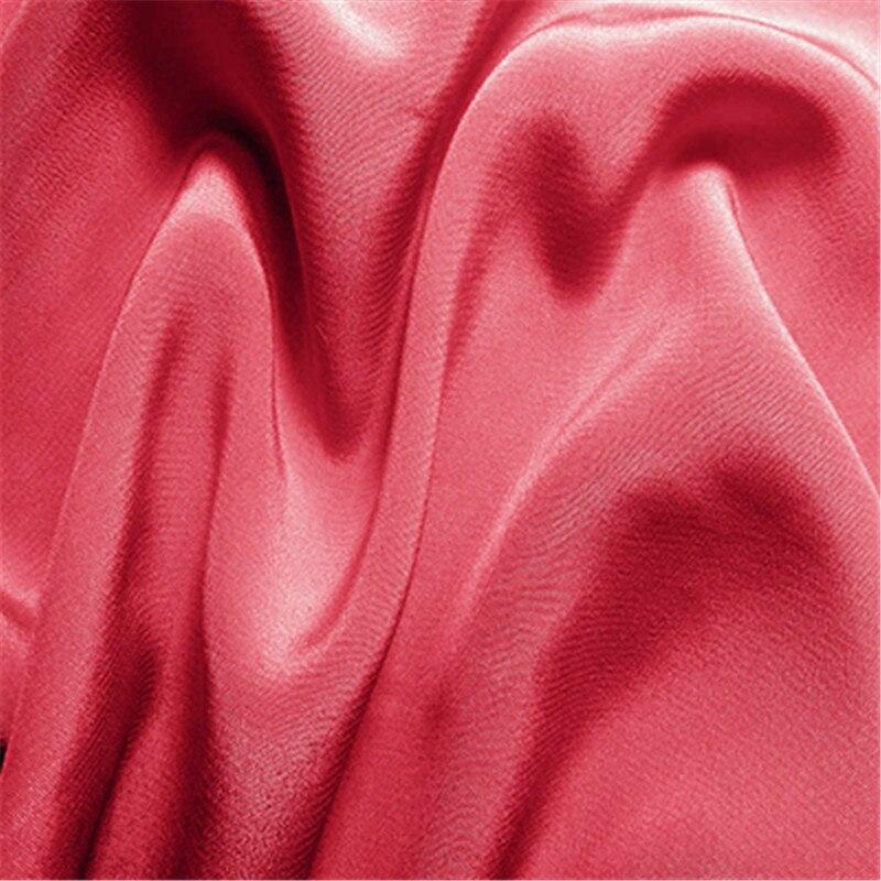 16 мм эластичный шелк крепдешин ткань шелк тутового шелкопряда 108 см ширина серебристый черный синий фиолетовый 10 метров маленькая - Цвет: 32