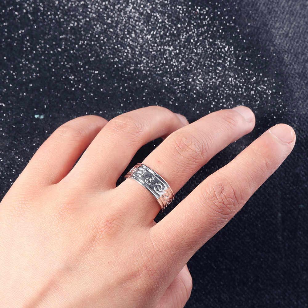 2018 el más nuevo 1 anillo de onda de acero inoxidable nudillo océano alambre envolver anillos de Surf para Mujer Accesorios de joyería