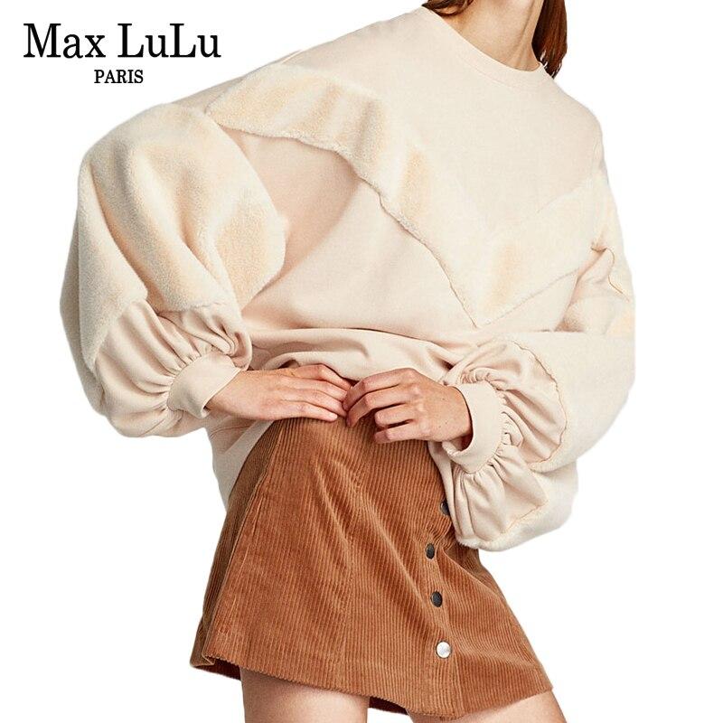 Max LuLu Fashion Brand Kawaii Korean Winter Clothes Womens Warm Sweatshirt Thicken Fur Tracksuit Ladies Loose Hoodies Plus Size