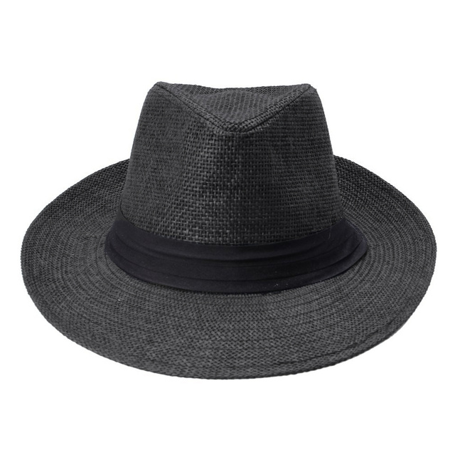 144738fd1977d Fashion Men Women Panama Hat Contrast Color Straw Ribbon Pinched Crown  Rolled Trim Summer Floppy Hat Beach Cap Chapeu Praia