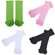 M89CNew детская одежда для маленьких девочек детские носки гетры для малышей носки наколенники, плотные колготки цвета: белый/черный/зеленый/розовый