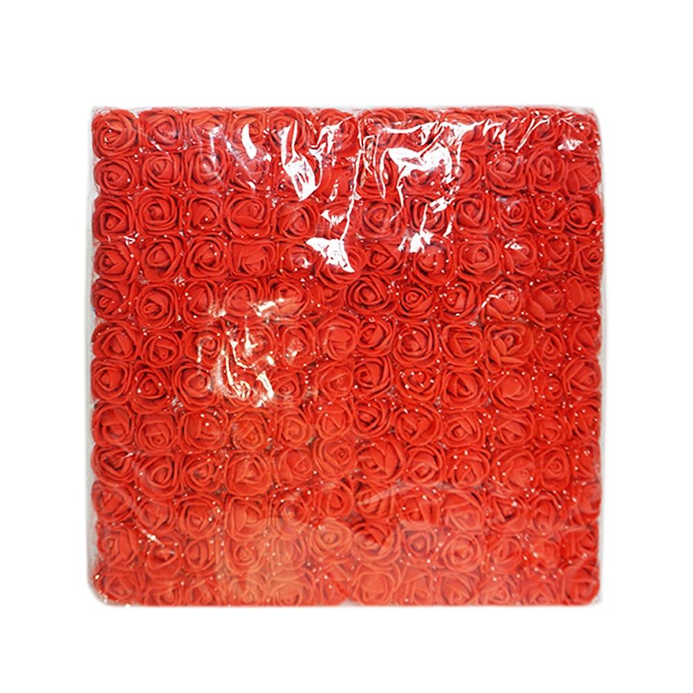 144 шт. мини пены розы Искусственные цветы DIY Ручной венок декоративный Свадебные поддельные цветок для дома свадебное украшение автомобиля