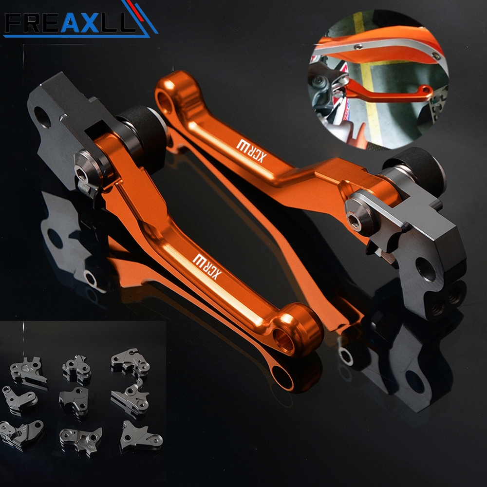 For KTM 450XCR W 450XCRW 530XCR W 530XCRW 2005 2013 Moto Levers CNC Motorcycle Pit Dirt BIKE Pivot Foldable Brake Clutch Levers in Levers Ropes Cables from Automobiles Motorcycles