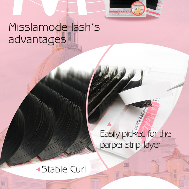 Misslamode 16rows/tray  russian volume eyelash extensions supplies lashes extension individual eyelashes extensions 3