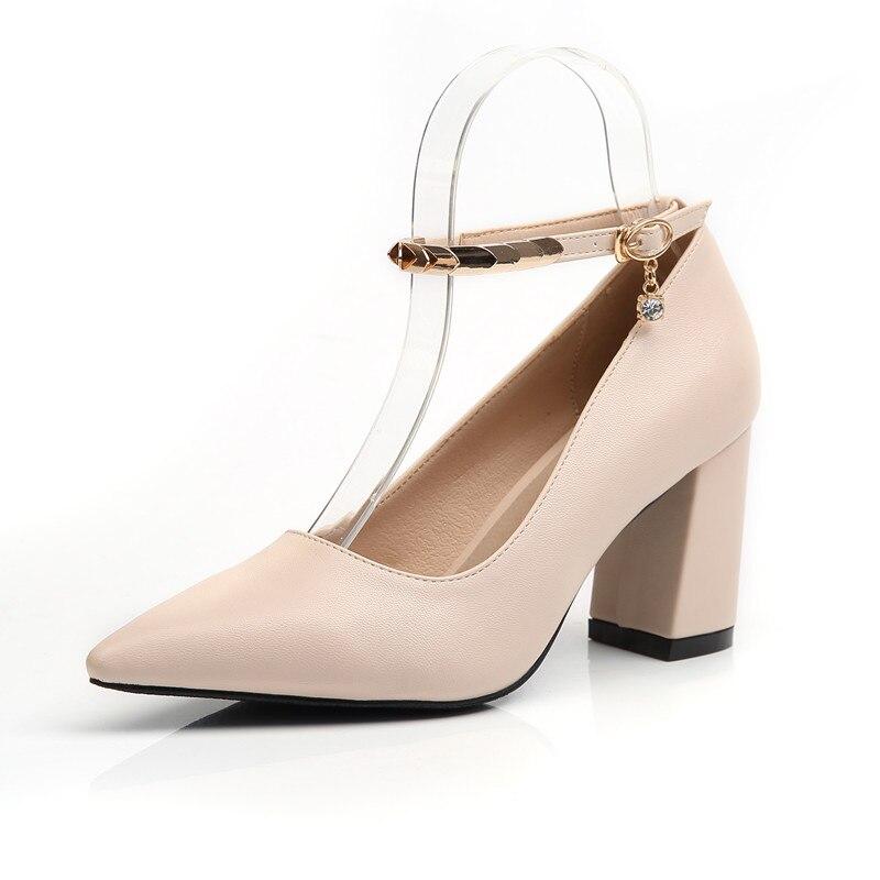 b0055 Sexy Heel Rojo Alta 34 Color Zapatos Mujer Tamaño Punta Calzado 43 7cm Tacones Madura Oficina Bly Height Señora De Height 7cm Cuadrado Suave zUx4OqXR