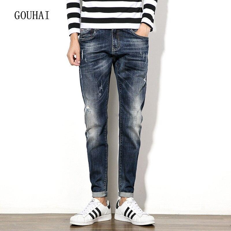 Men Jeans Plus Size 2016 Autumn Winter Mens Denim Jean Cotton Pants Blue Men Denim Trousers Slim Jeans Pants High Quality