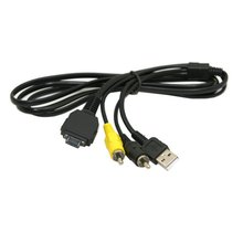 USB i AV TVOUT kabel VMC MD1 do aparatu Sony DSC W150 W170 W200 W300 N1 N2  W70 W80 W80HDPR T70 T100 T200 T300 H7 W130 W150