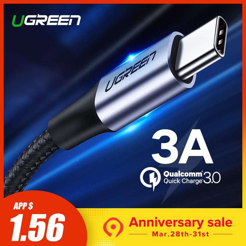 US $1.59 38% OFF|Ugreen USB Type C Cable USB C Fast Charging Data Cable for Samsung Galaxy S9 S8 Plus Mobile Phone Charger Cable for Xiaomi Mi 8-in Mobile Phone Cables from Cellphones & Telecommunications on Aliexpress.com | Alibaba Group