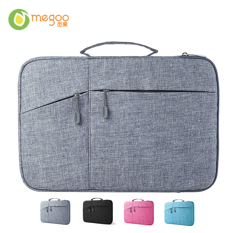 Megoo 13 inch Laptop Sleeve Case Bag With Pocket Waterproof For Xiaomi Air 13.3/MacBook Air/Pro 13/Surface Book 2/Laptop 13.5 megoo surface book 13 5 leather case sleeve cover pu ultra thin for microsoft surface book 13 5 for macbook air 13 3
