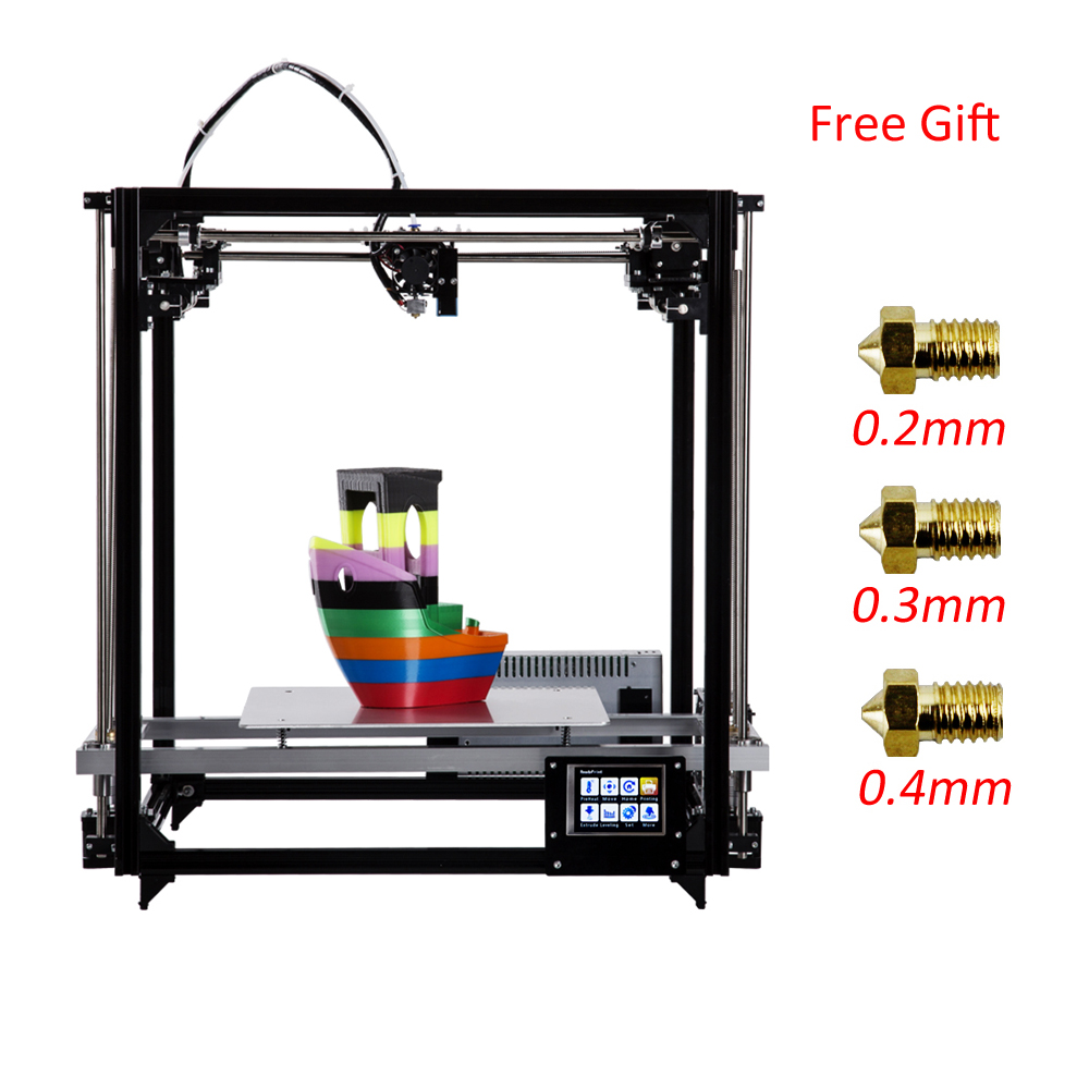 New Update Metal Frame Flsun 3d printer 3d-PrinterLarge Size 260*260*350mm Heated Bed With Two Rolls Filament SD Card