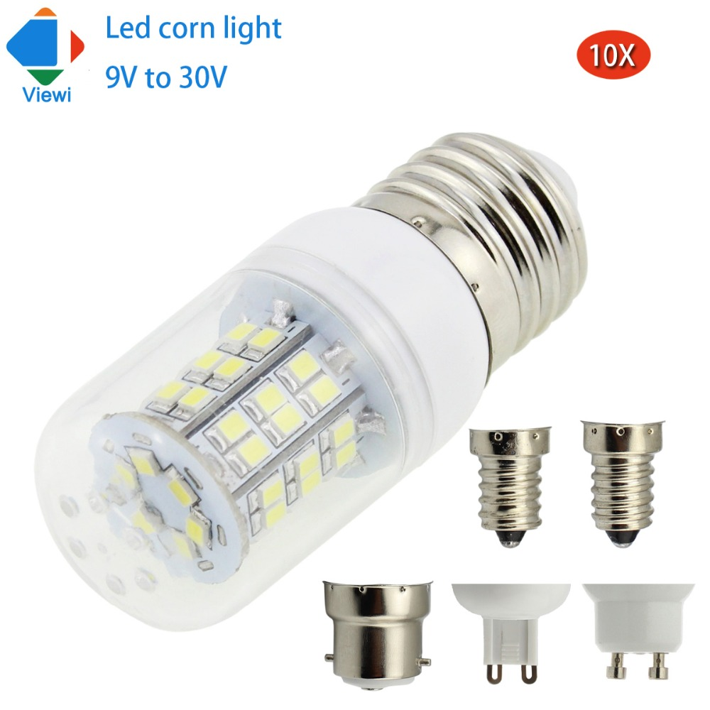 viewi 10x ampoule led 12v 24v bulb corn 4w e27 b22 gu10. Black Bedroom Furniture Sets. Home Design Ideas