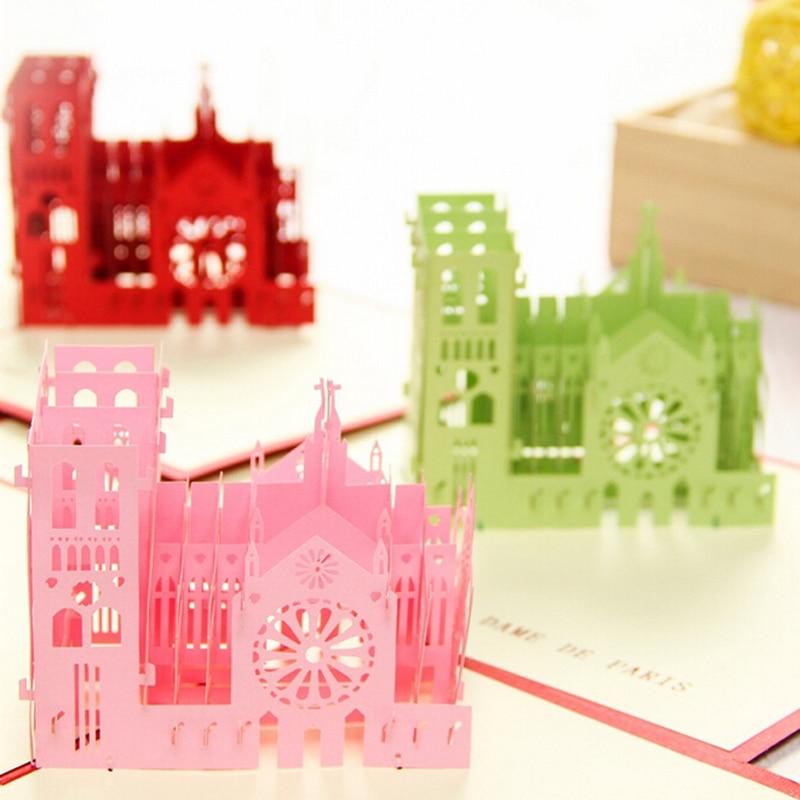 5 pieces/lot)Paper Art Model Diy Handmade Model Notre Dame de Paris ...