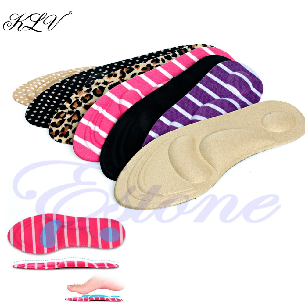 KLV 3D Sponge Soft Insole Comfort High Heel Shoe Pad Pain Relief Insert Cushion Pad