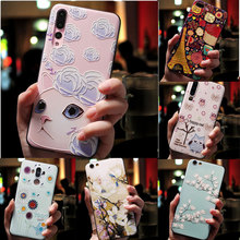 For OPPO AX7 Case Soft Silicone Cover 3D Floral Emboss Phone Case For OPPO Reno 10X Zoom F11 Pro A1K A3S A39 A57 A59 Realme 3Pro аксессуар защитное стекло zibelino tg для oppo ax7 5d black ztg 5d oppo ax7 blk