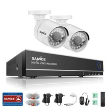 SANNCE 4CH 720P HDMI CCTV DVR Outdoor 1500TVL Video Camera Home Security System Surveillance kits