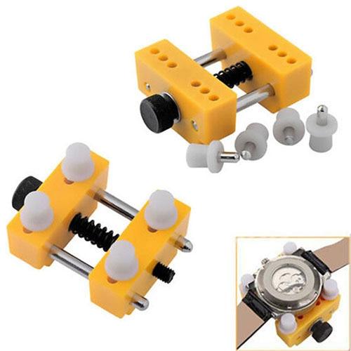 Adjustable Watch Back Case Opener Fixing Holder Case Watchmaker Repair Tool 6YGZ
