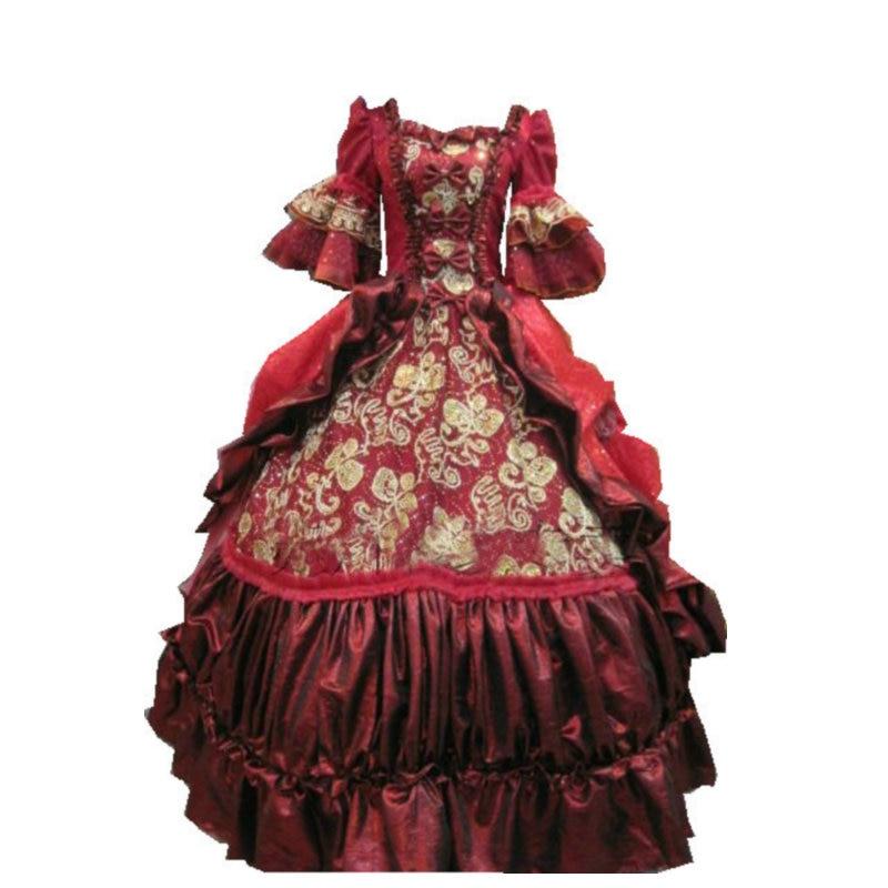 Custom-madeGT-115 1860 S victorienne douce Lolita/guerre civile sud Belle robe de bal Scarlett robes Sz US 6-26 XS-6XL