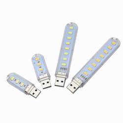 USB Светодиодная лампа для чтения 3 светодиодный s 8 светодиодный s SMD 5630 5730 светодиодный лампы 5 V Мощность Вход белый 5000-6500 K теплый белый 3000-3500 K