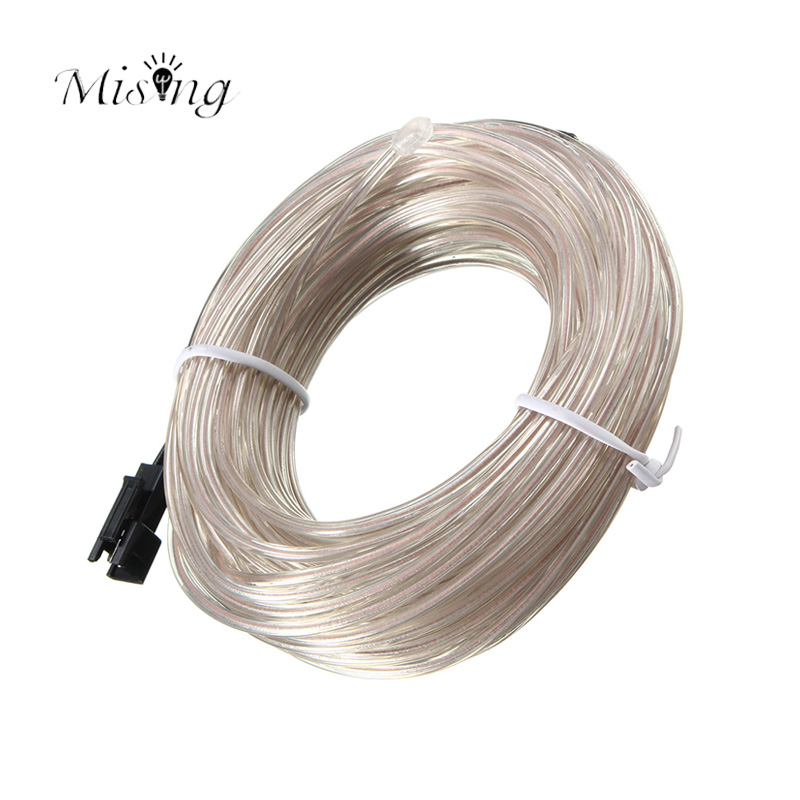 Mising 10M EL Soft Tube Wire 12V Flexible LED Flash Neon Light String Waterproof Glow Car Rope Strip Light for House Party car cigarette lighter powered flexible neon light glow el wire w drive yellow dc 12v 2m