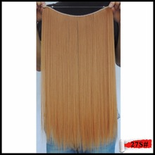 Straight Extentions Flip in Haar Natural Hair Extension Apply Japanese Fiber Mega Synthetic Hairpiece Halo 50g