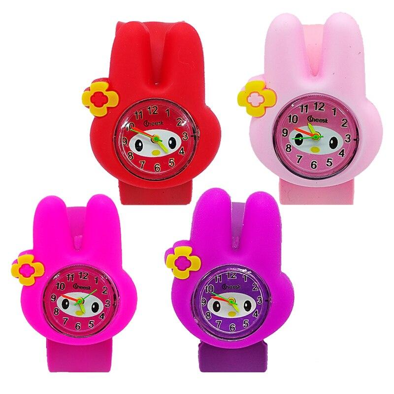 Rabbit Anime Candy Color Student Watch For Girls Clock Fashion Flamingo Watches Children Wristwatch Kids Quartz Electronic Watch
