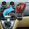 Ts15 prácticos de la PU de cuero 5 velocidad palanca de cambios del coche Styling cuidado convierte accesorios interiores Manual Transmission Gear Shift Knob