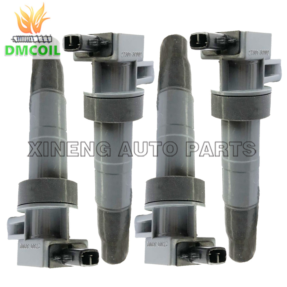 4 PCS IGNITION COIL FOR HYUNDAI GENESIS SONATA V SANTA FE II KIA CARENS III SORENTO
