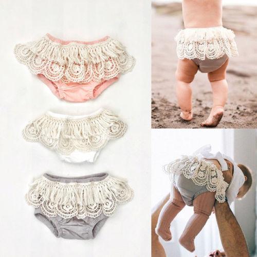 Liefdadig Adoeable Peuter Pasgeboren Baby Meisje Ondergoed Ruffle Stroken Pp Broek Nappy Cover Sunsuit Luier 0-24 M