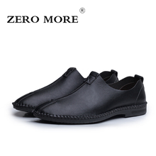 ZERO MORE Solid Slip On Casual British Driving Luxury Shoes For Men Loafers 2019 Handmade Sewing Formal Dresses For Work Spring