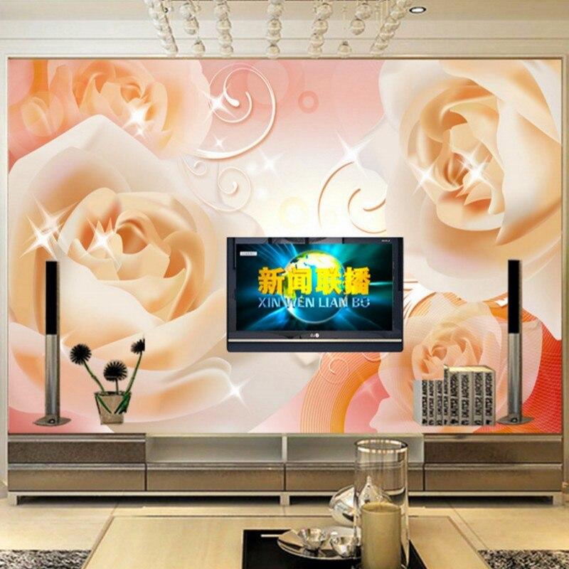 Home Improvement Photo Wallpaper European Rose Mural Living Room Sofa Bedroom Tv Background Wallpaper High Quality Lobby Studio Mural