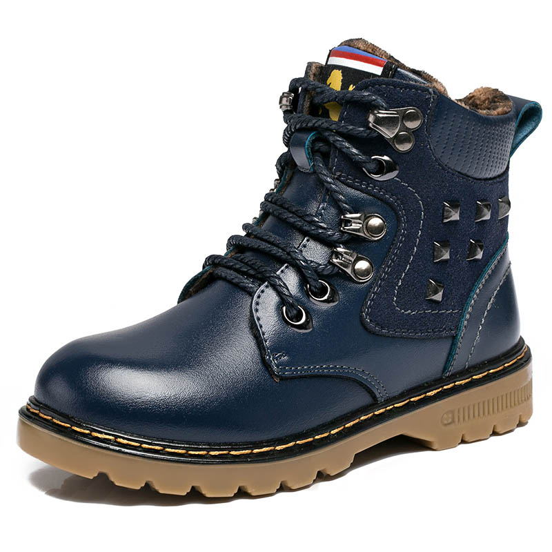 2015 High quality children winter boots boys fashion warm boots kids comfortable casual rivet snow boots