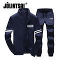 Jolintsai Mens Sweat Suits Brand Men Tracksuit Sets Hoodie Fleece Jacket+Pants Sportswear Sweatshirt Men Sudaderas Hombre