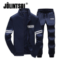 Jolintsai Mens Sweat Suits Brand Men Tracksuit Sets Hoodie Fleece Jacket+Pants Sportwear Sweatshirt Men Sudaderas Hombre