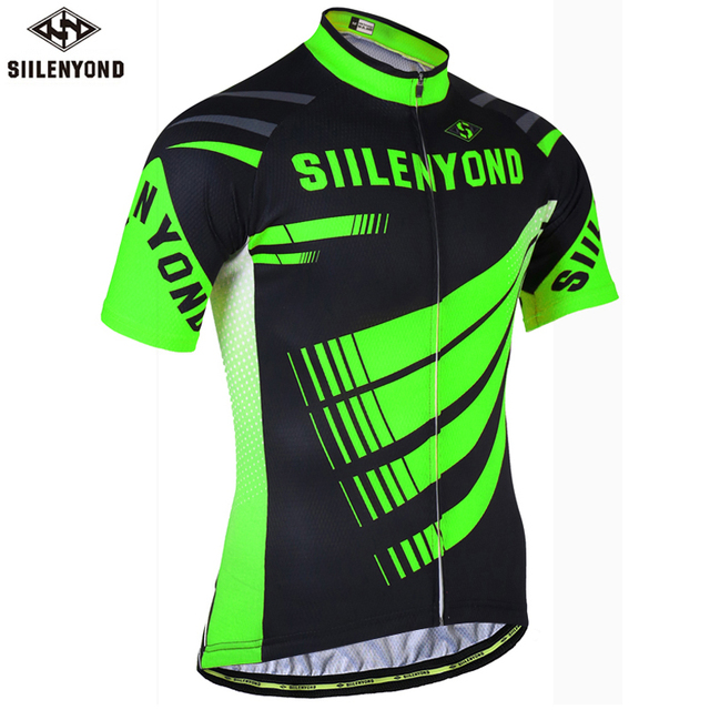 693cb34b4 Siilenyond Flour Green Cycling Jersey Mountain Bike Clothes Summer Cycling  Clothing Racing MTB Bicycle Cycling Sportwears