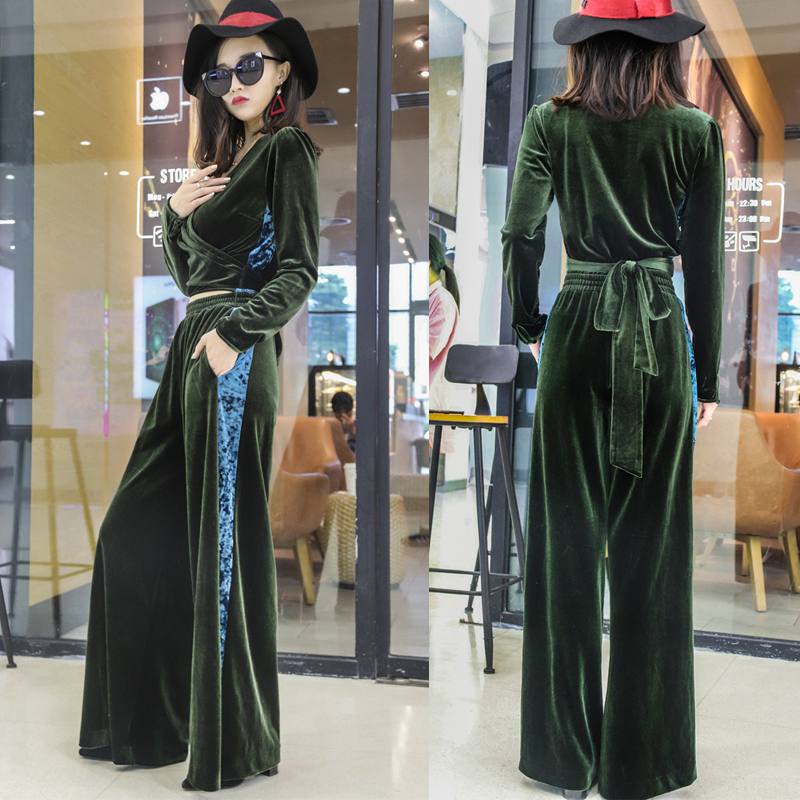 2 piece set women suit female 2019 spring and autumn fashion European style street clothing loose casual suit Price $64.28