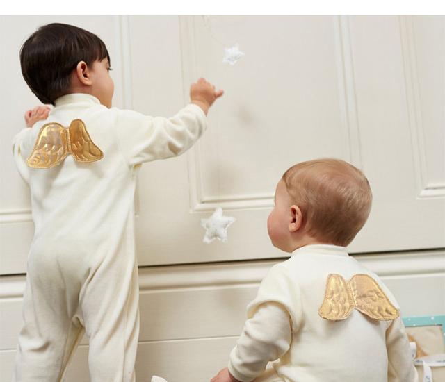 Bebê recém-nascido Romper para meninas meninos da Asa do Anjo macacão de Algodão infantil kleding jurkjes bebês roupas roupas de aniversário