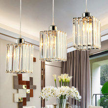 Modern Led Pendant Lights Loft For Kitchen Dinning Room K9 Crystal Lamps Hanglamp Hanging Light Fixture Home Table Loft Decor lukloy nordic gold ball modern pendant ceiling lamps loft for the kitchen led pendant lights hanglamp hanging light fixture