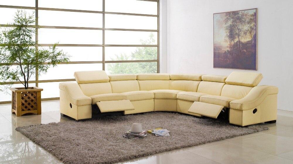 Kuh Echtes Leder Sofa Wohnzimmer Wohnmbel Couch Sofas Schnitts Ecke Liege Verschiffen