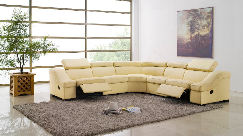 cow genuine leather sofa living room home furniture couch sofas living room  sofa sectional/corner - Popular Reclining Leather Furniture-Buy Cheap Reclining Leather