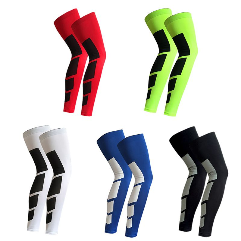From USA Shipping Men Outdoor Sports Cycling Leg Knee Long Sleeve Protector Gear Crashproof Antislip Leg Warmers