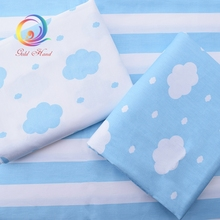 Sky Blue clouds Printed Twill Cotton Fabric For Sewing Quilting Tissue Baby Bed Sheets Sleepwear Children Dress Skirt Material