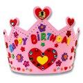 Милые 3D ЕВА Корона Ручной Работы Подарки Корабля Комплекты Мультфильм День Рождения Корона DIY Hat Ручной Игрушки для Детей Случайный Цвет